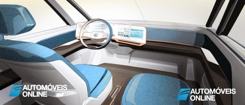 New volkswagen budd-e concept interior view