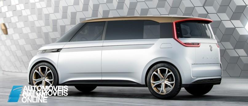 New volkswagen budd-e concept left rear profile view