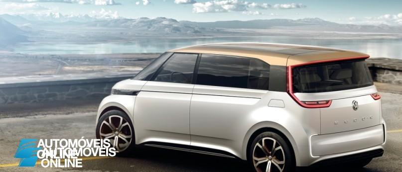 New volkswagen budd-e concept left rear quarter profile view