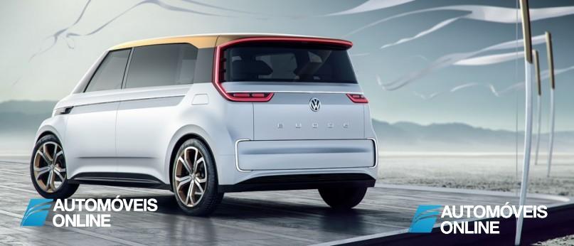 New volkswagen budd-e concept left rear view
