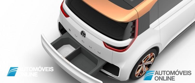 New volkswagen budd-e concept rear view