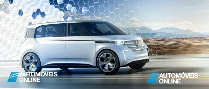New volkswagen budd-e concept right front profile view