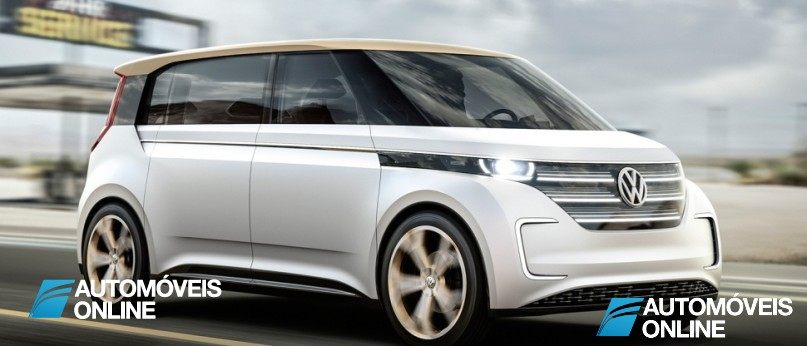 New volkswagen budd-e concept right front quarter view