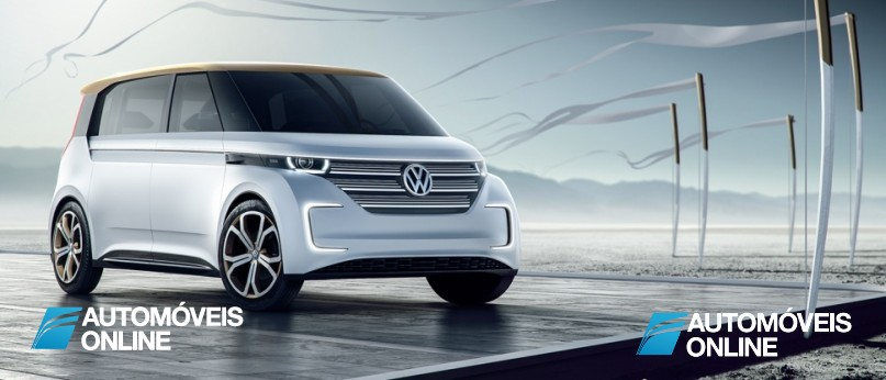New volkswagen budd-e concept right front view