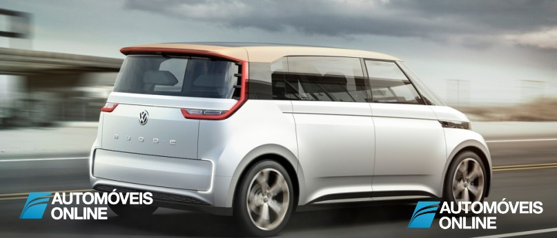 New volkswagen budd-e concept right rear profile view