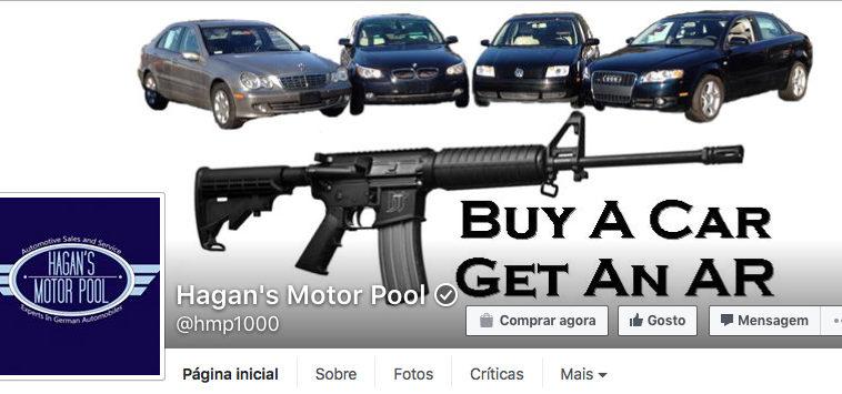 Compre um carro e ganhe uma arma
