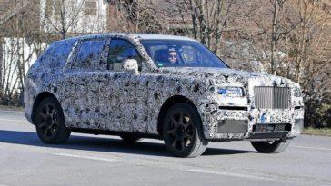 Cullinan o SUV Rolls-Royce faz primeiros testes