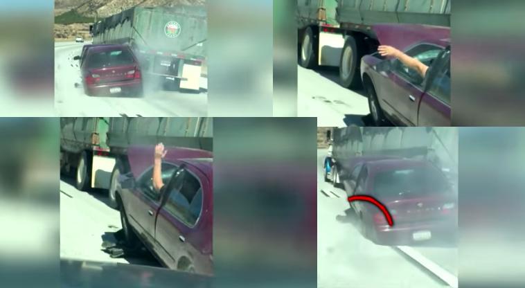 Insólito. Carro arrastado por camião durante seis quilómetros