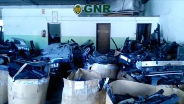 GNR recupera peças de carros roubados