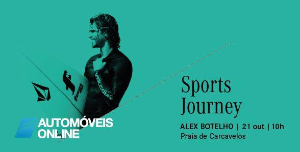Alex Botelho e Mercedes de mãos dadas pelo Surf