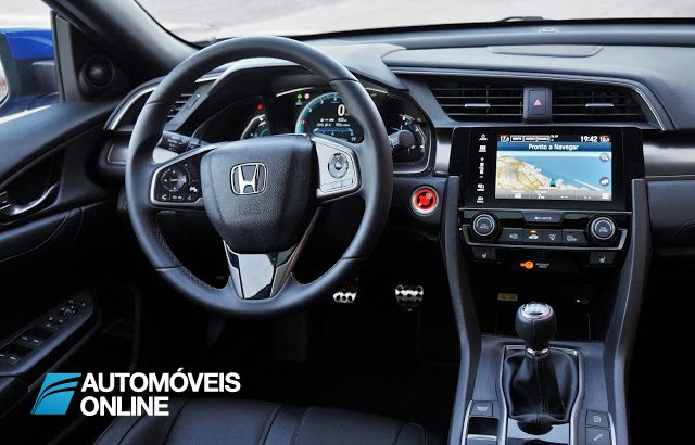 Painel e consola central do Honda Civic