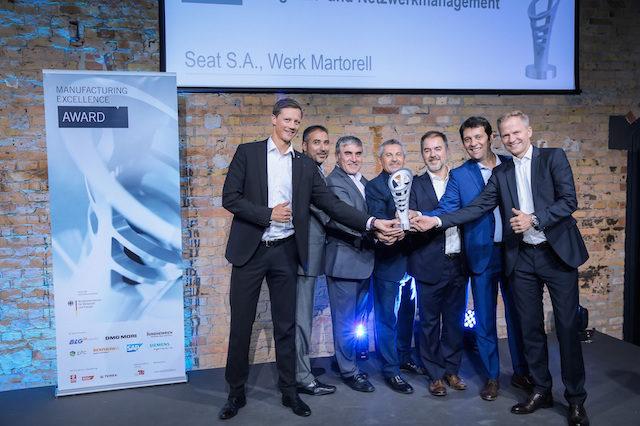 SEAT ganha prémio Manufacturing Excellence 2017