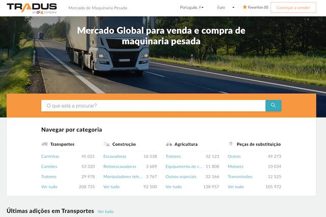 Precisa de um camião usado veículos comerciais ou uma maquinaria usada? Tradus é a solução.