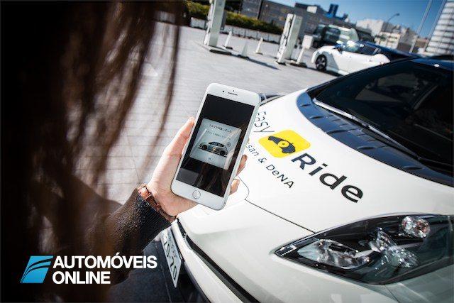 Easy Ride é o serviço de táxis robô desenvolvido pela Nissan e DENA