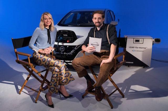 Margot Robbie é a embaixadora de veículos eléctricos da Nissan