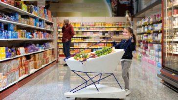 Utilize o Carrinho de Travagem Autónoma da Ford no Supermercado