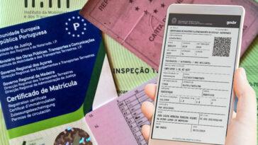 Carta de condução e documentos do carro em formato digital